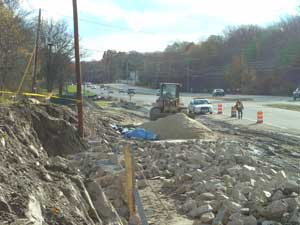 Route 1 construction